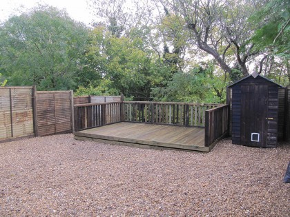 Garden clearance gravel & decking