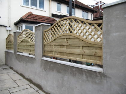 Rendered Block Work Wall with Panels, Henleaze