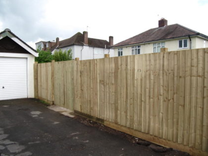 Feather Edge Fence, Stoke Bishop