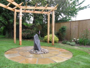 Pergola with Water Feature, Downend