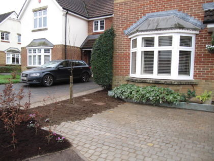 Sandstone Cobble Driveway and Copper Beech Hedge, Emerson's Green