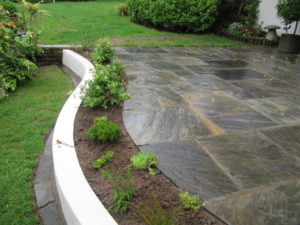 Antique Black Sandstone Patio, Whitchurch