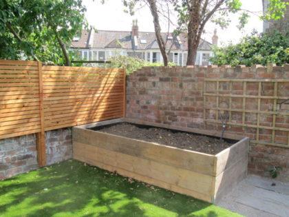 Timber Screening and Raised Beds, Bishopston