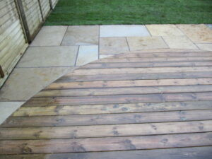 Yellow Limestone with Timber Decking, Bedminster