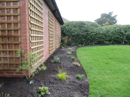 New Border with Planting, Trellis and Lawn, Westbury On Trym