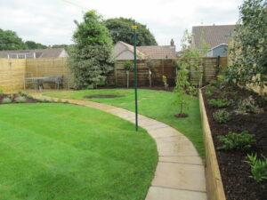 Circular Garden Design with Pond, Downend