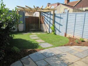 Small Garden Design with Pergola, Fishponds