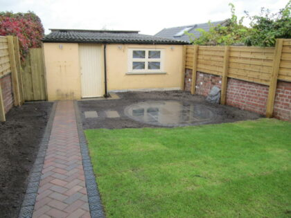 Patios, Pathway, Fence, Lawn and Borders, Fishponds
